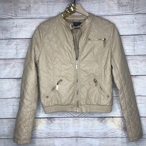 Forever 21 | Taupe Casual Moto Jacket